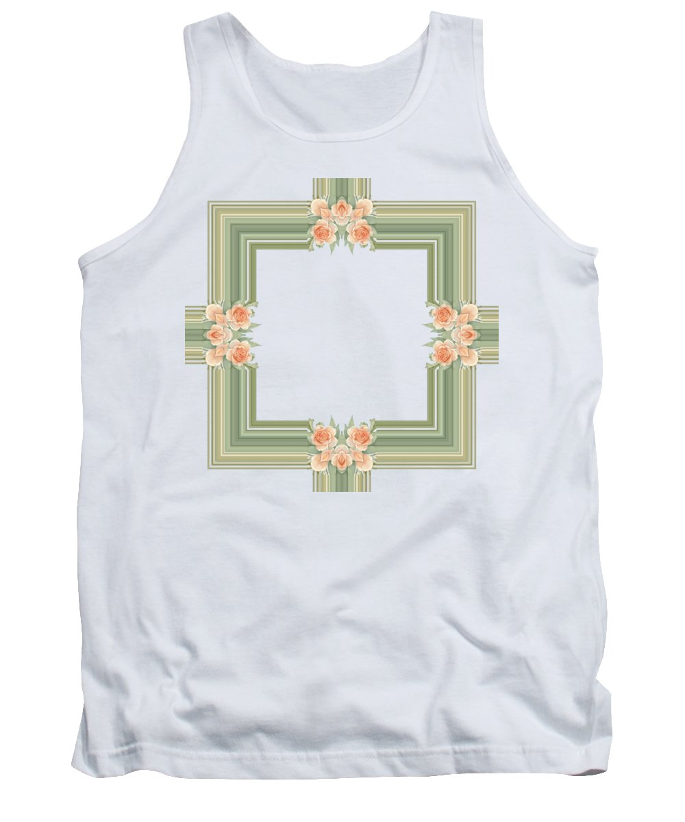Becky Hayes Tank Top featuring the digital art Photoart Orange Flowers-1 by Becky Hayes