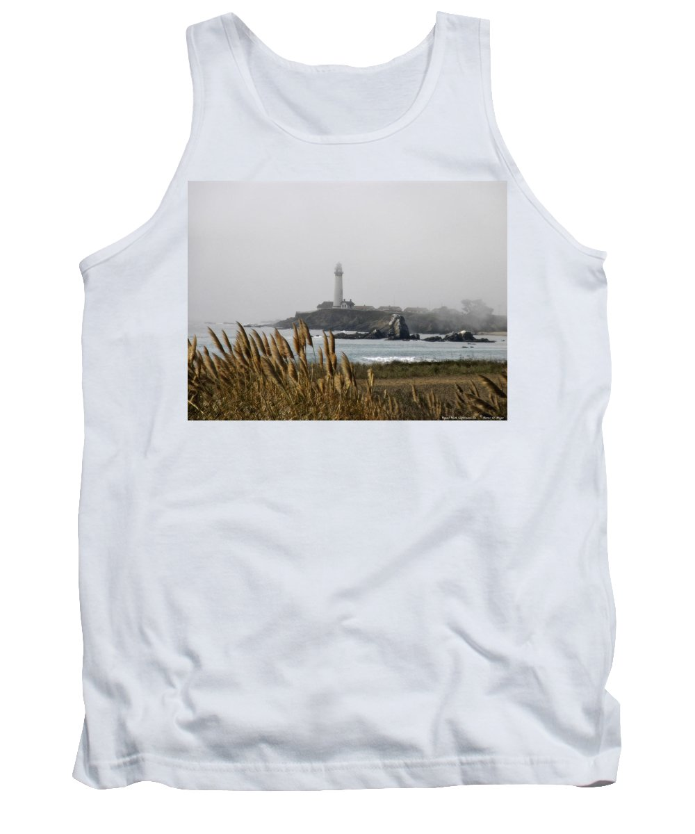 Landscape Tank Top featuring the photograph Piegeon Point Lighthouse by Karen W Meyer