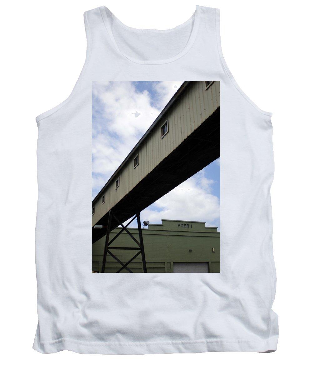 Urban Tank Top featuring the photograph Pier Passage by Jill Reger