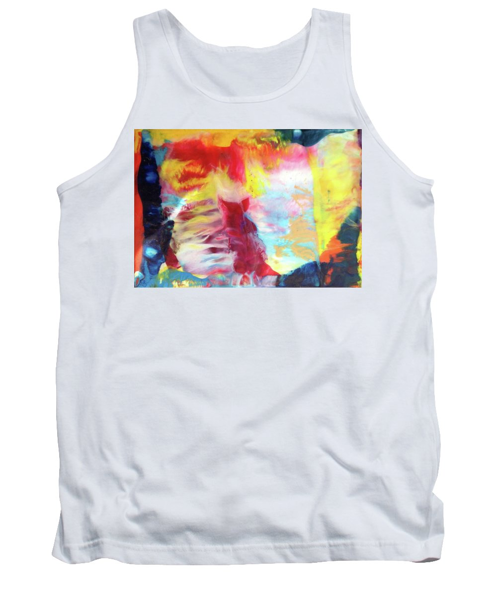 Tank Top featuring the painting Pig Power by Sperry Andrews