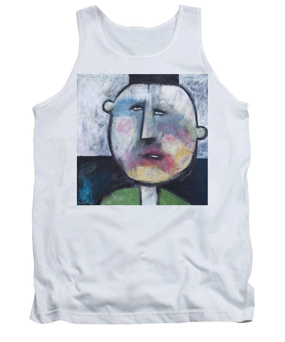 Funny Tank Top featuring the painting Pillbox by Tim Nyberg