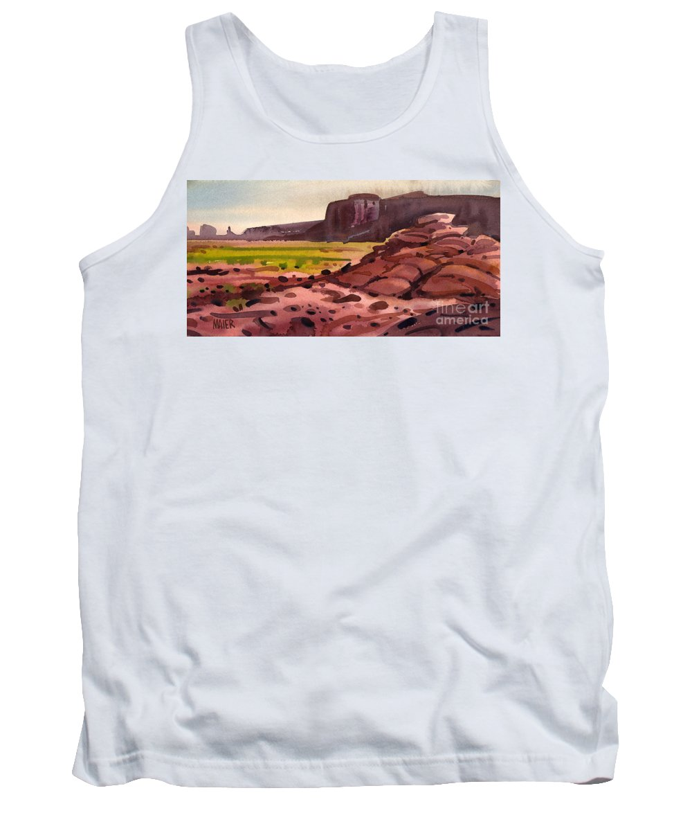 Monument Valley Tank Top featuring the painting Pillow Rocks by Donald Maier