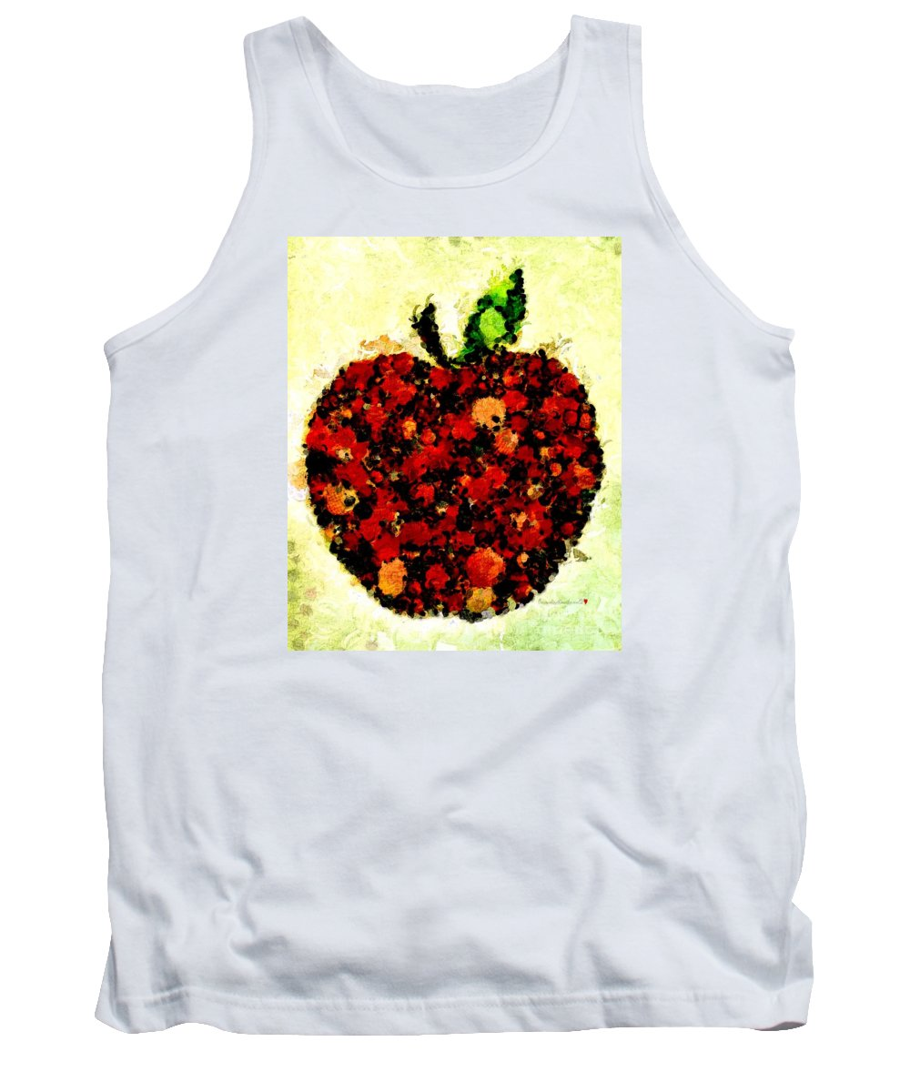 Pinatamiche Painting Crackle Art Tank Top featuring the painting Pinatamiche Painting Crackle Art by Catherine Lott