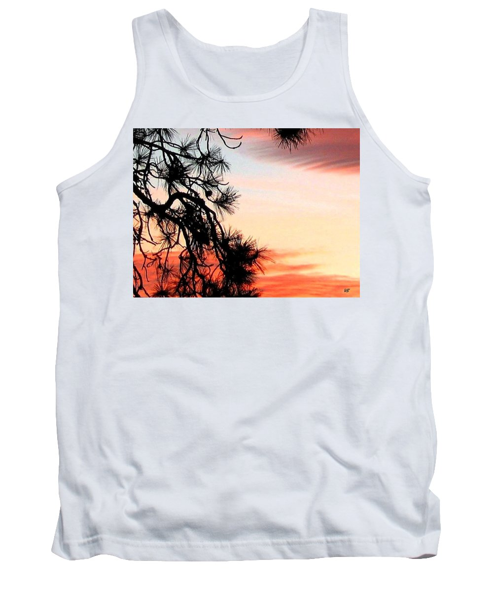 Sunset Tank Top featuring the photograph Pine Tree Silhouette by Will Borden
