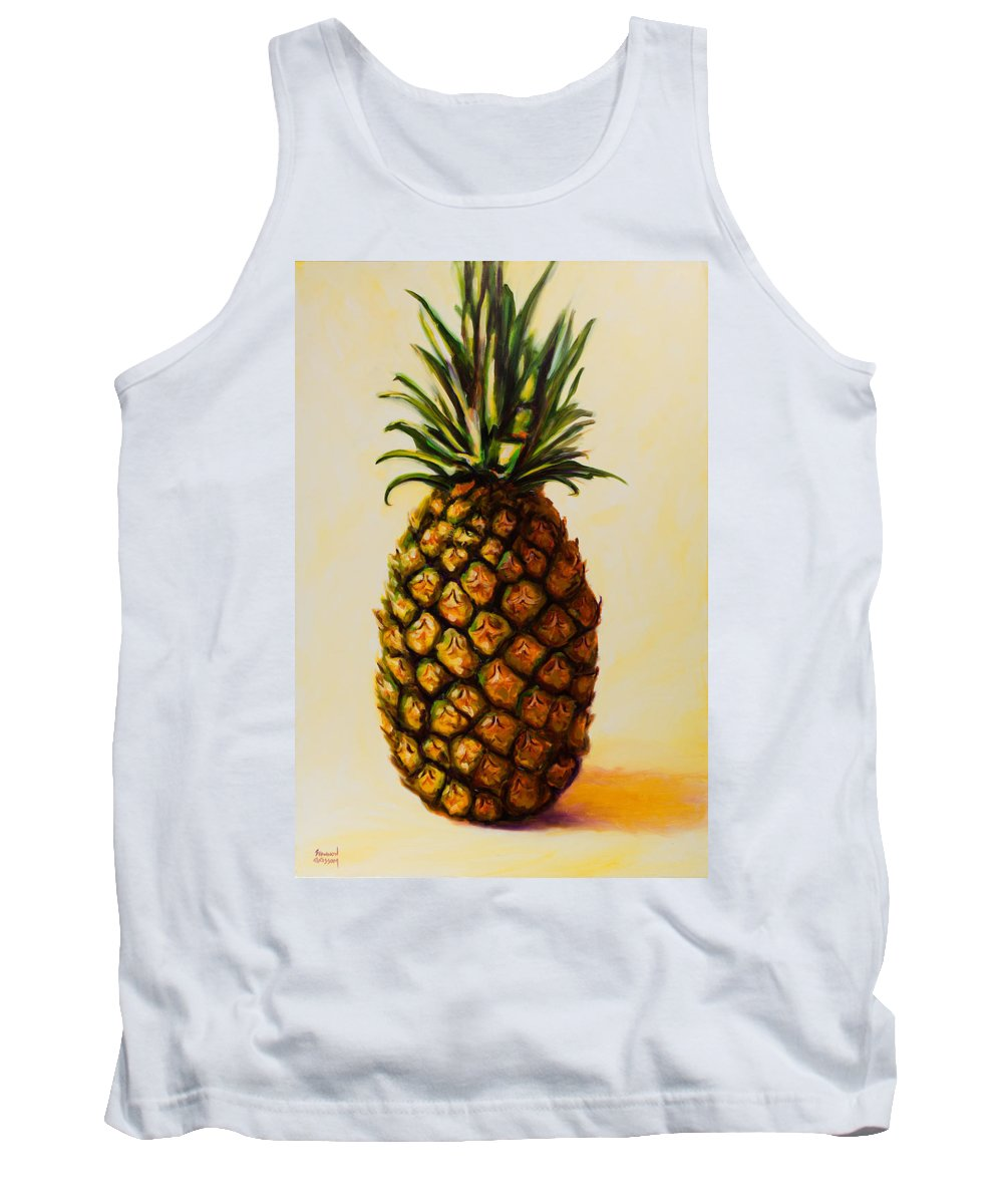 Pineapple Tank Top featuring the painting Pineapple Angel by Shannon Grissom