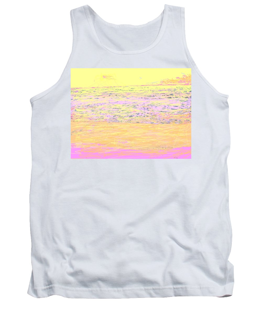 Seascape Tank Top featuring the photograph Pineapple Sunset by Ian MacDonald