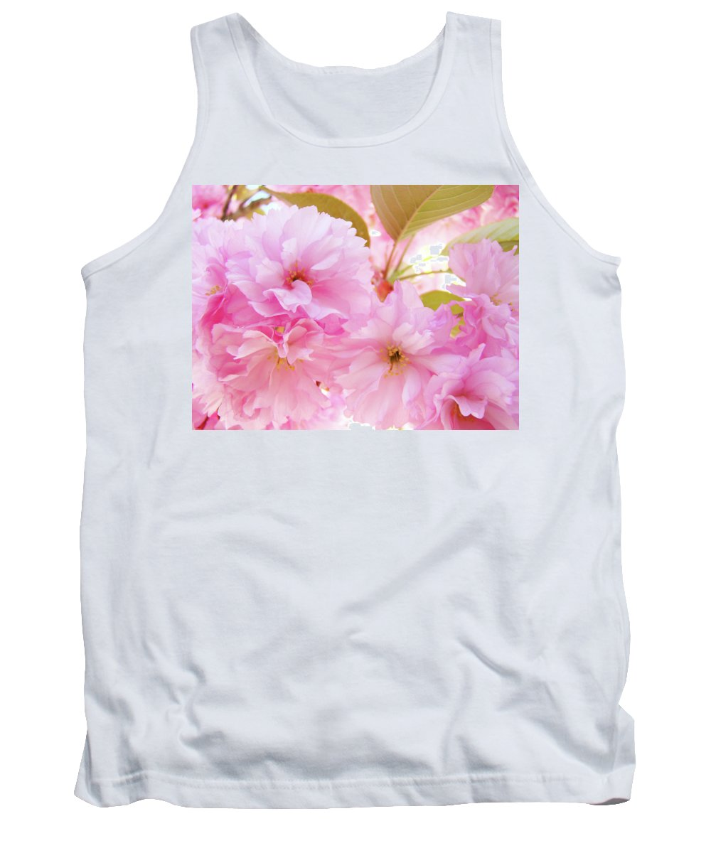 Blossom Tank Top featuring the photograph Pink Blossoms Art Prints Canvas Spring Tree Blossoms Baslee Troutman by Baslee Troutman