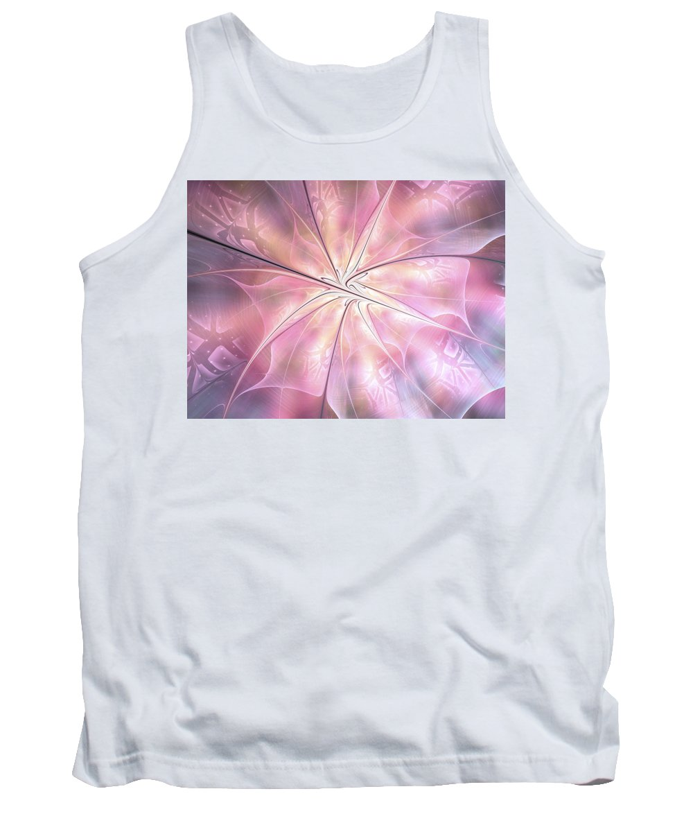 Fractal Tank Top featuring the digital art Pink Feeling by Amorina Ashton