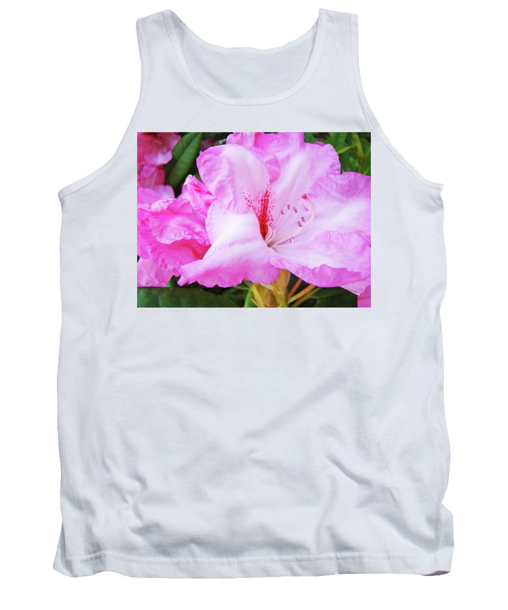 Rhodie Tank Top featuring the photograph Pink Rhododendron Art Print Floral Canvas Rhodies Baslee Troutman by Baslee Troutman