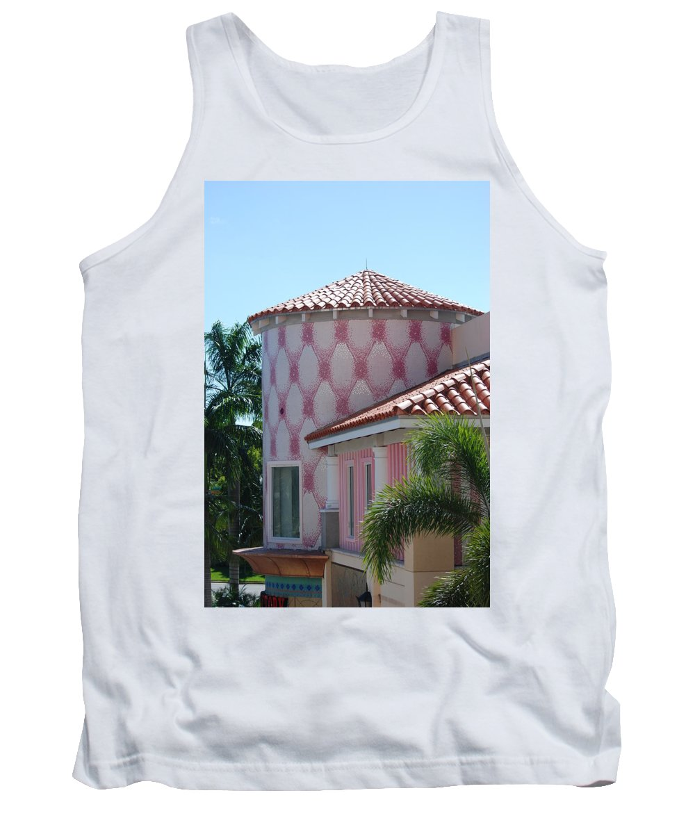 Architecture Tank Top featuring the photograph Pink Tower by Rob Hans