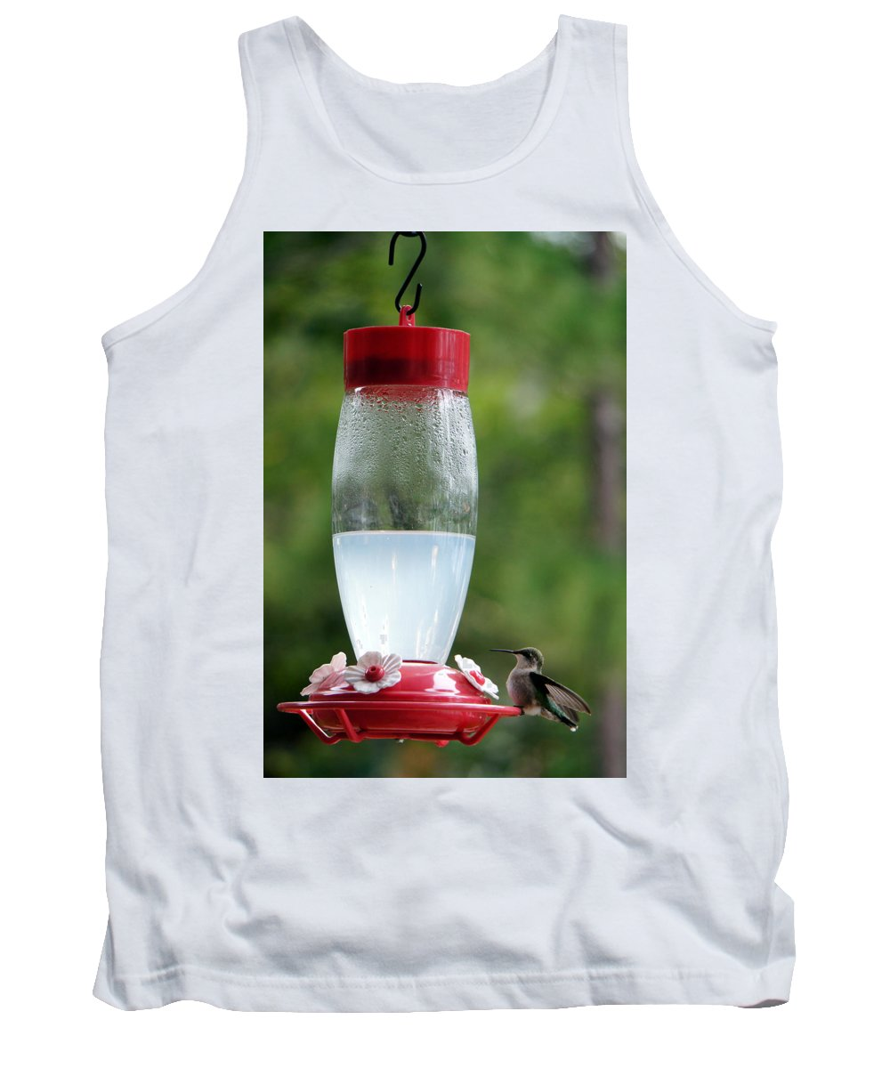 Bird Hummingbird Nature Green Minnesota Tank Top featuring the photograph Pit Stop by Pete Mikelson