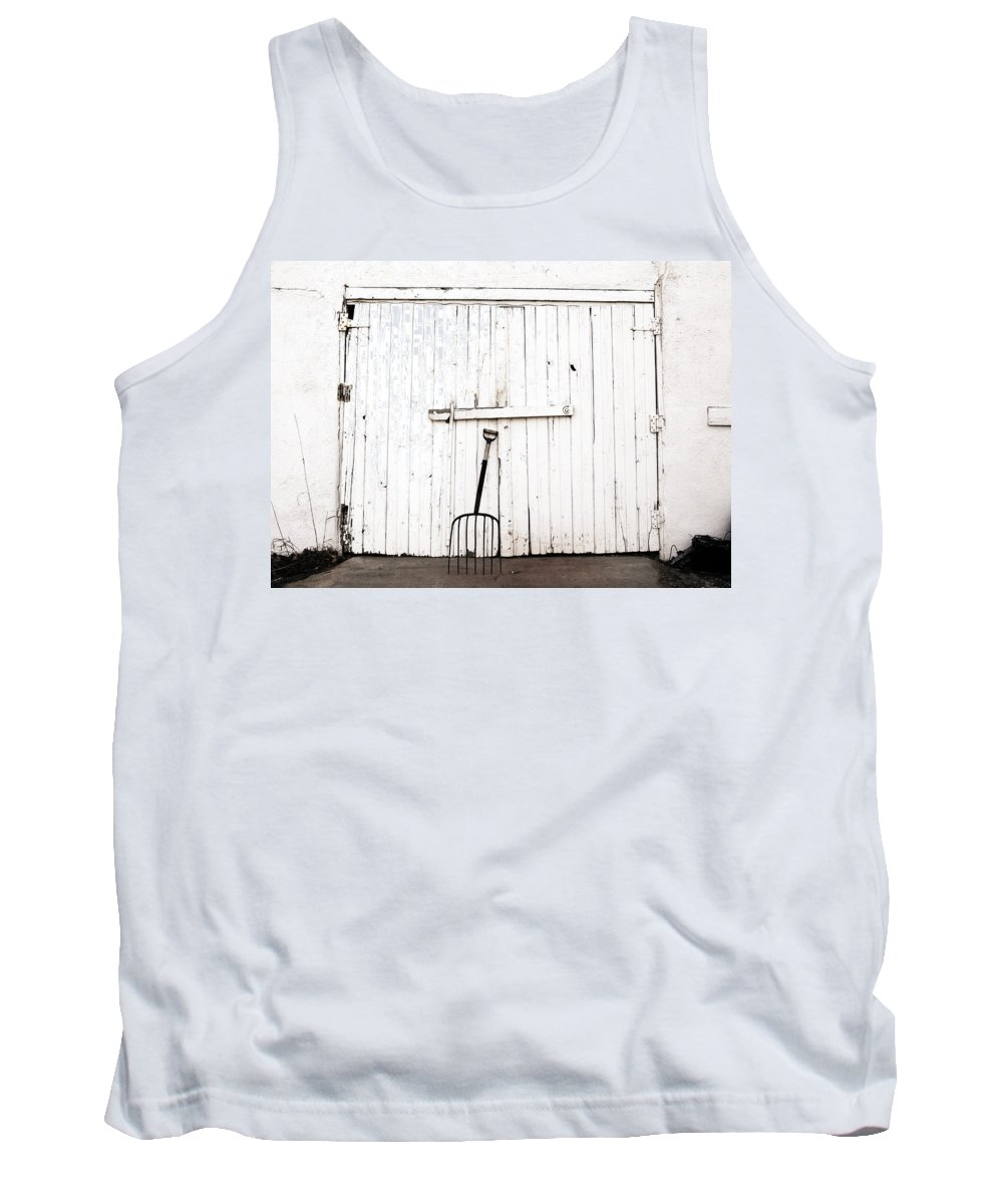 Americana Tank Top featuring the photograph Pitch Fork by Marilyn Hunt