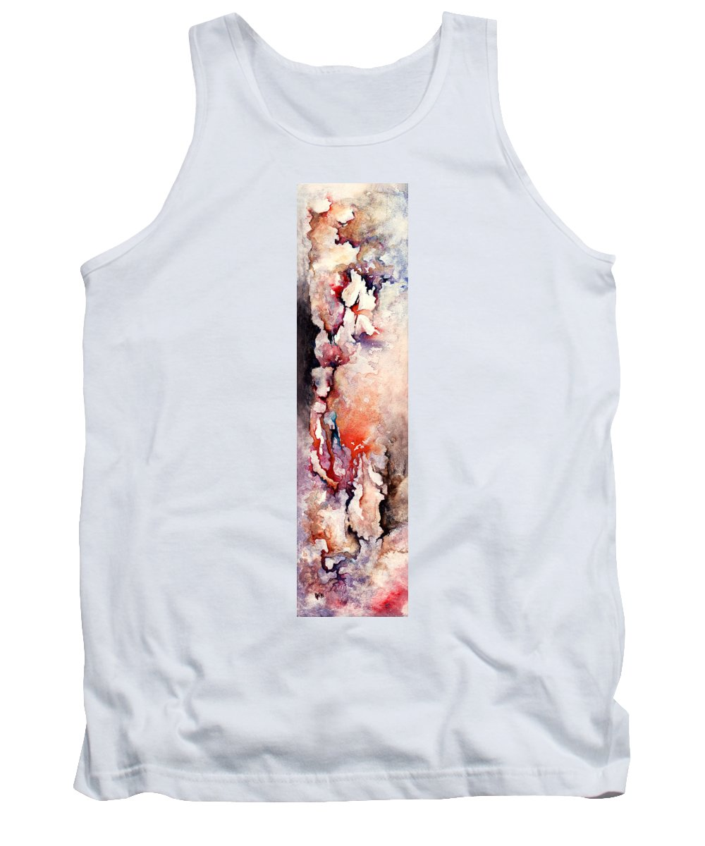 Abstract Tank Top featuring the painting Places In The Heart by Rachel Christine Nowicki