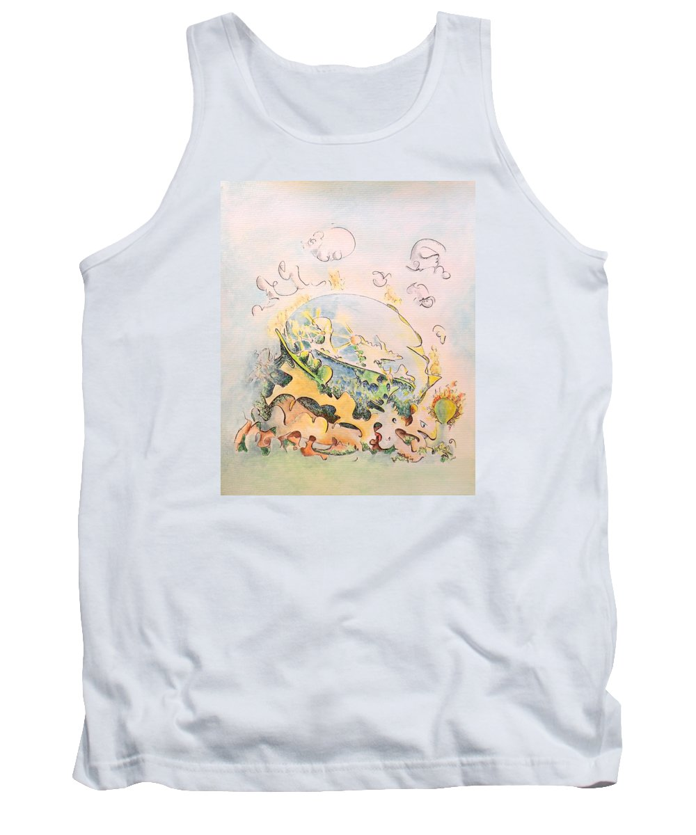 Planet Tank Top featuring the painting Planetary Chariot by Dave Martsolf