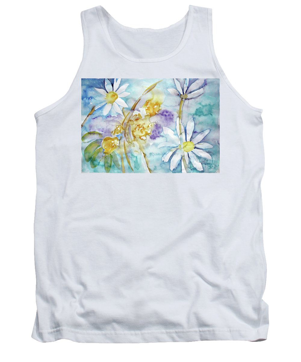 Flowers Tank Top featuring the painting Playfulness by Jasna Dragun