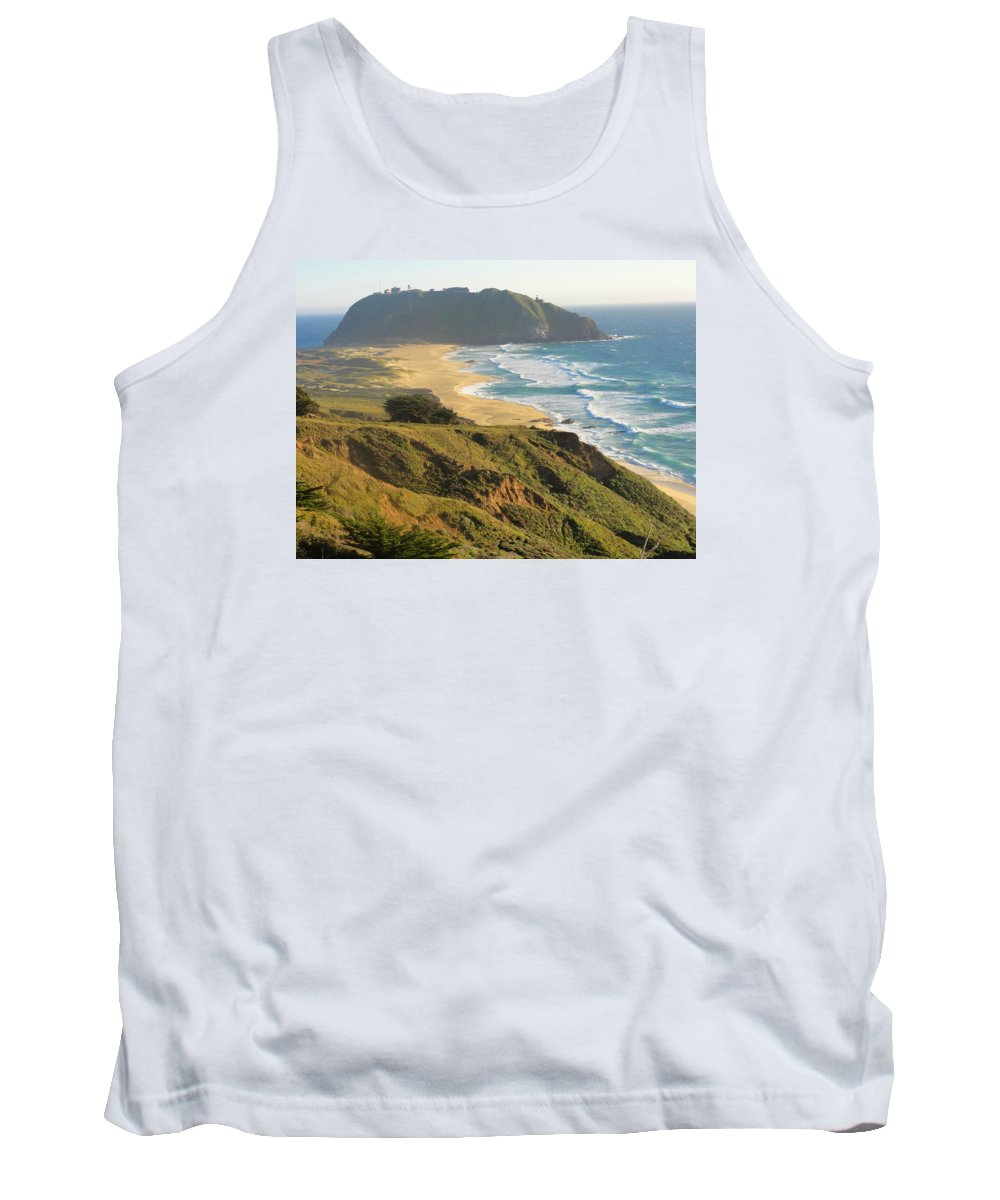 Beach Tank Top featuring the photograph Point Sur National Park by Charmaine Anderson