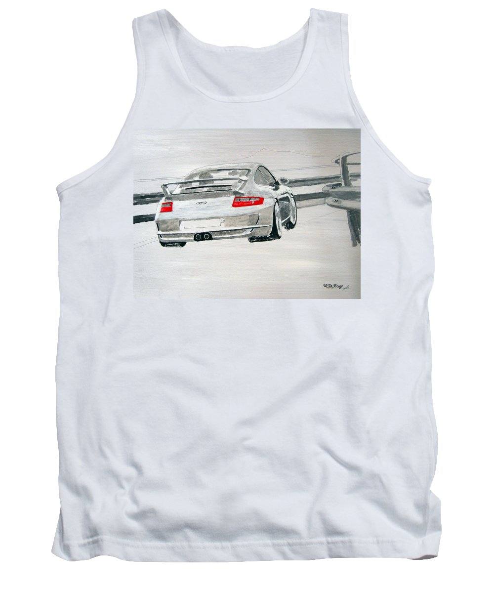 Porsche Gt3 Tank Top featuring the painting Porsche Gt3 by Richard Le Page