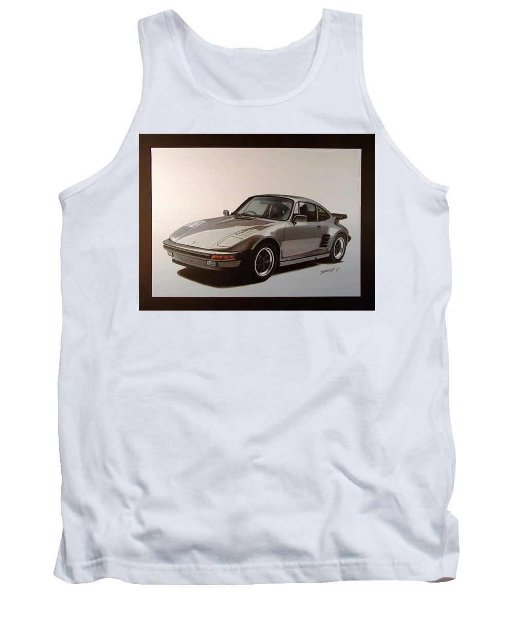 Car Tank Top featuring the painting Porsche by Shawn Stallings