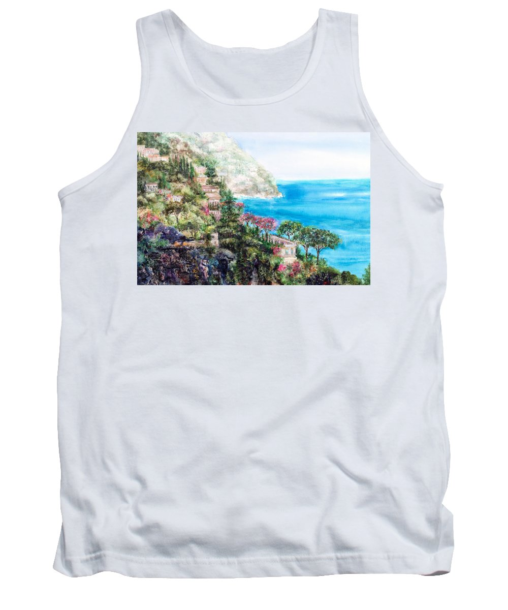 Landscape Tank Top featuring the painting Positano by Barbara Colangelo