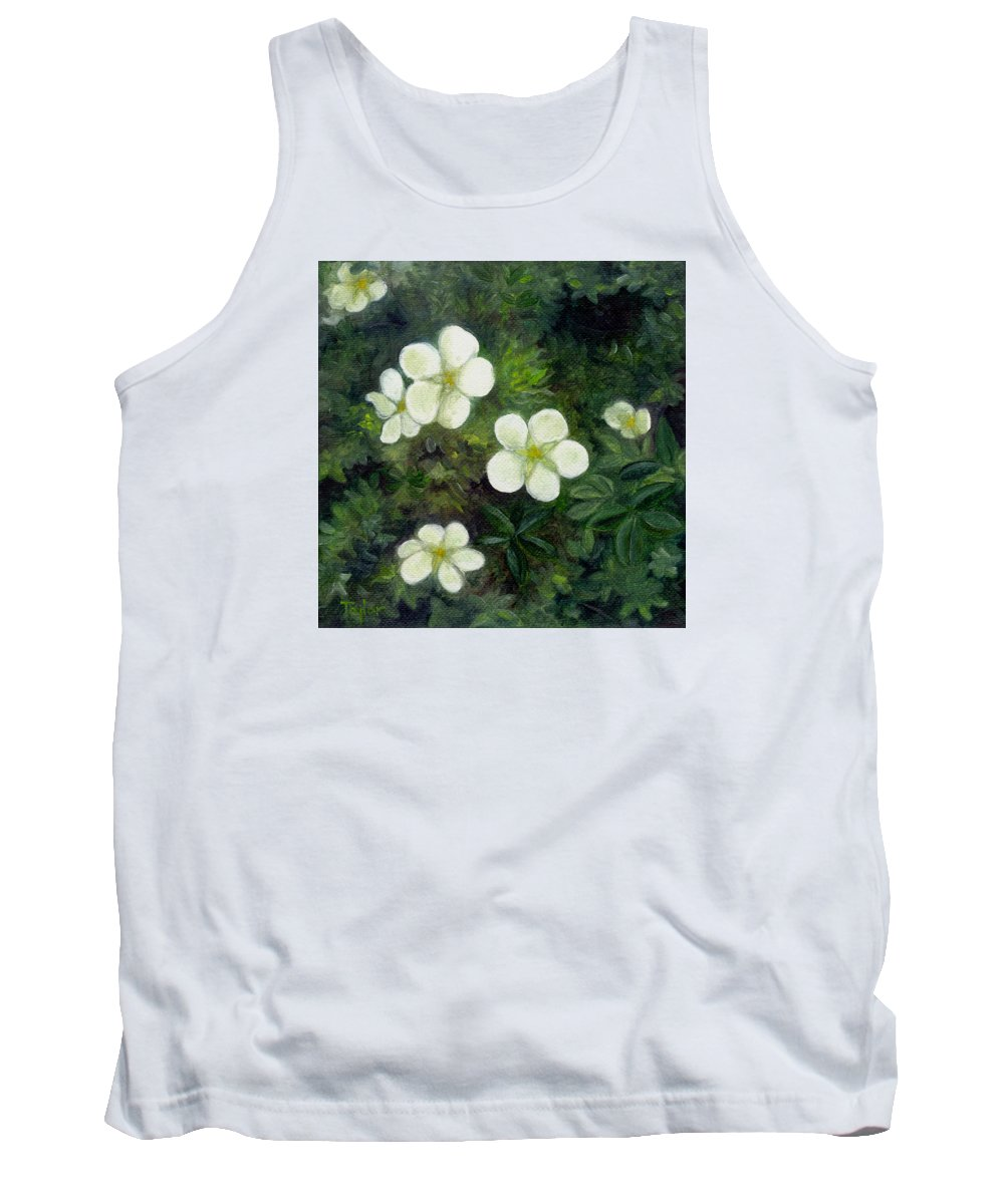 Flowers Tank Top featuring the painting Potentilla by FT McKinstry