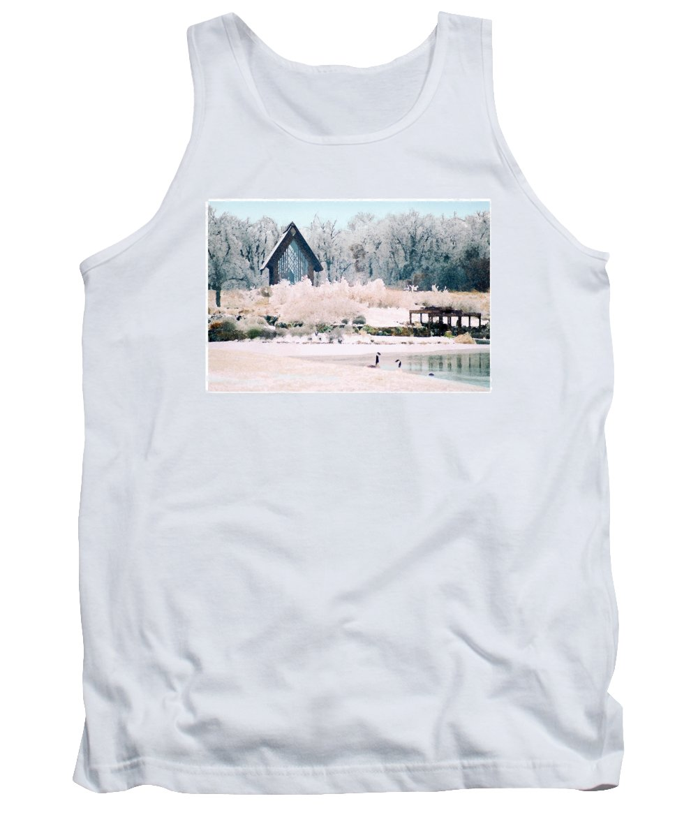 Landscape Tank Top featuring the photograph Powell Gardens Chapel by Steve Karol