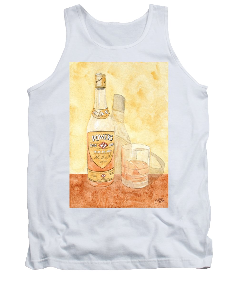 Irish Tank Top featuring the painting Powers Irish Whiskey by Ken Powers