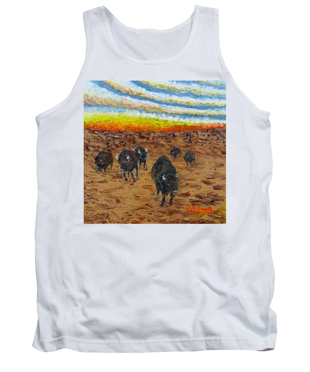 Art Tank Top featuring the painting Prairie Fire by Danny Lowe