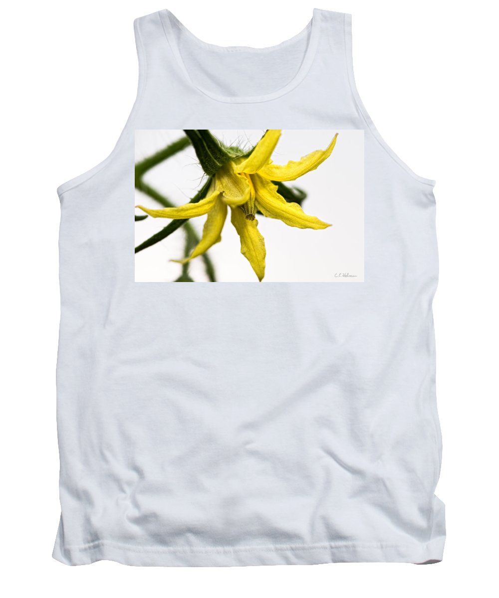 Tomato Tank Top featuring the photograph Pre-tomato by Christopher Holmes