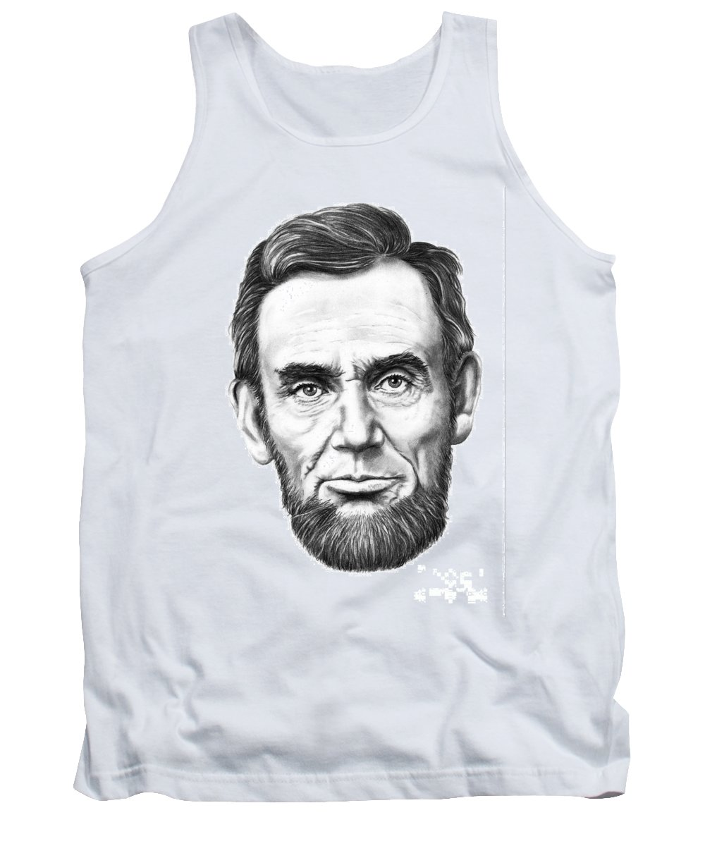 President Abe Lincoln Tank Top featuring the drawing President Abe Lincoln by Murphy Elliott