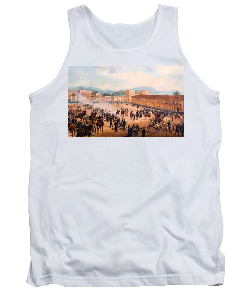 Painting Tank Top featuring the painting Proclamation Of The Republic by Mountain Dreams