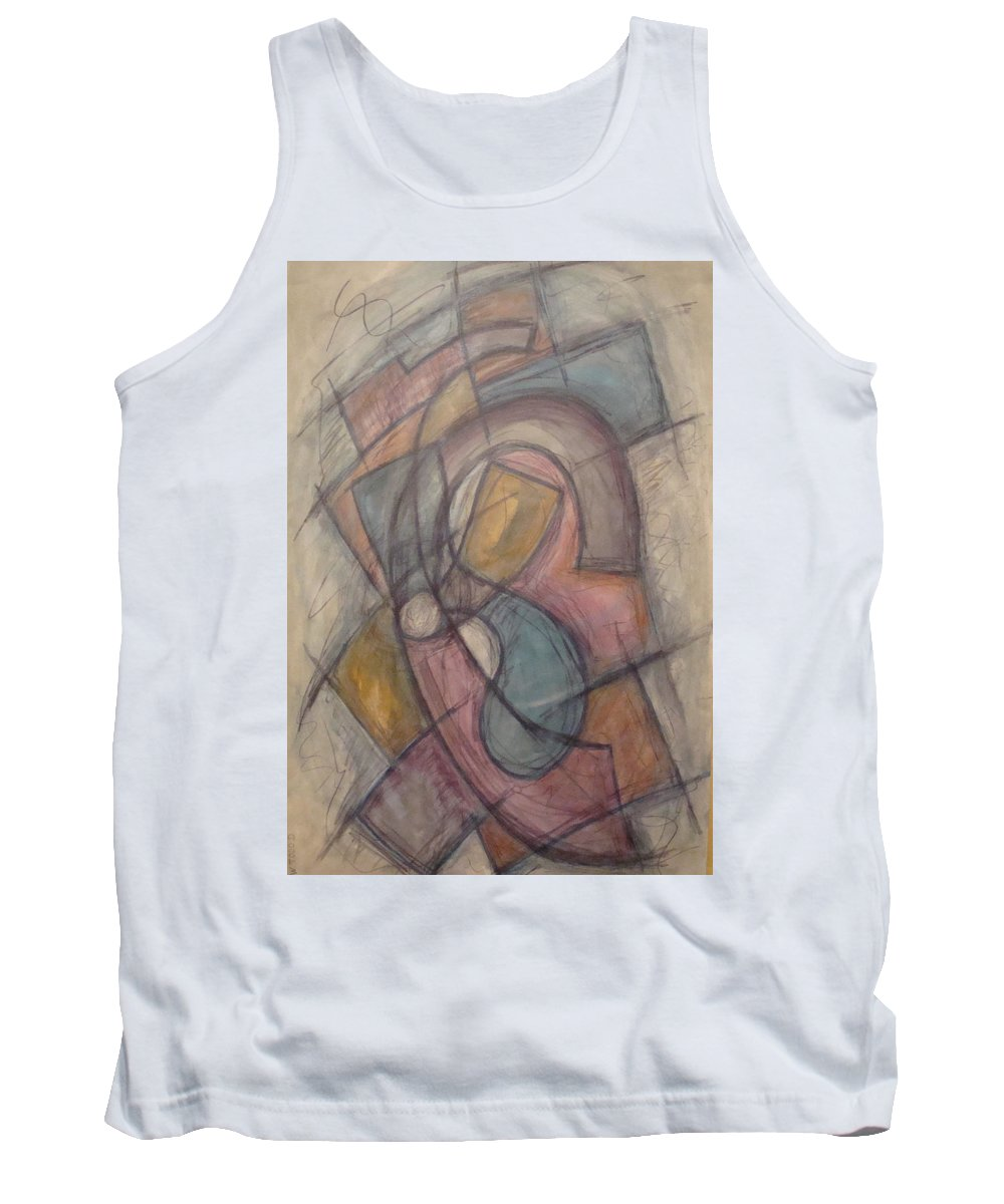 Pure Abstract Tank Top featuring the painting Propeller by W Todd Durrance