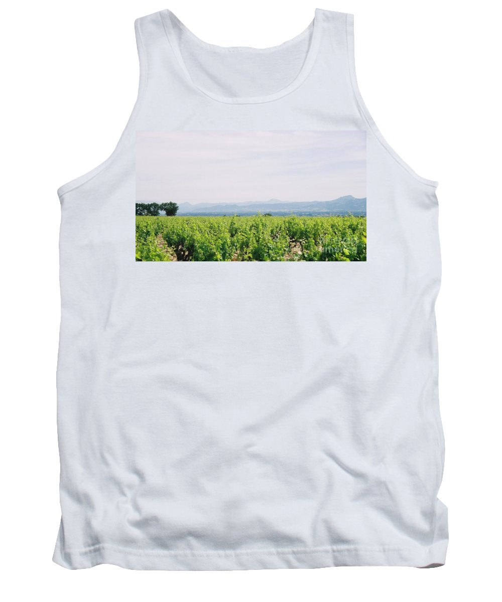 France Tank Top featuring the photograph Provence Spring Vineyard by Nadine Rippelmeyer