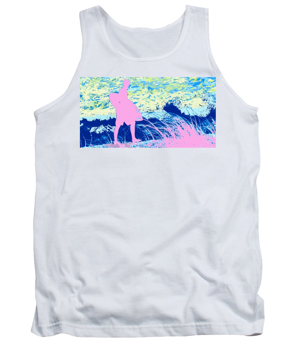 Florida Tank Top featuring the photograph Psychadelic Beach by Ian MacDonald