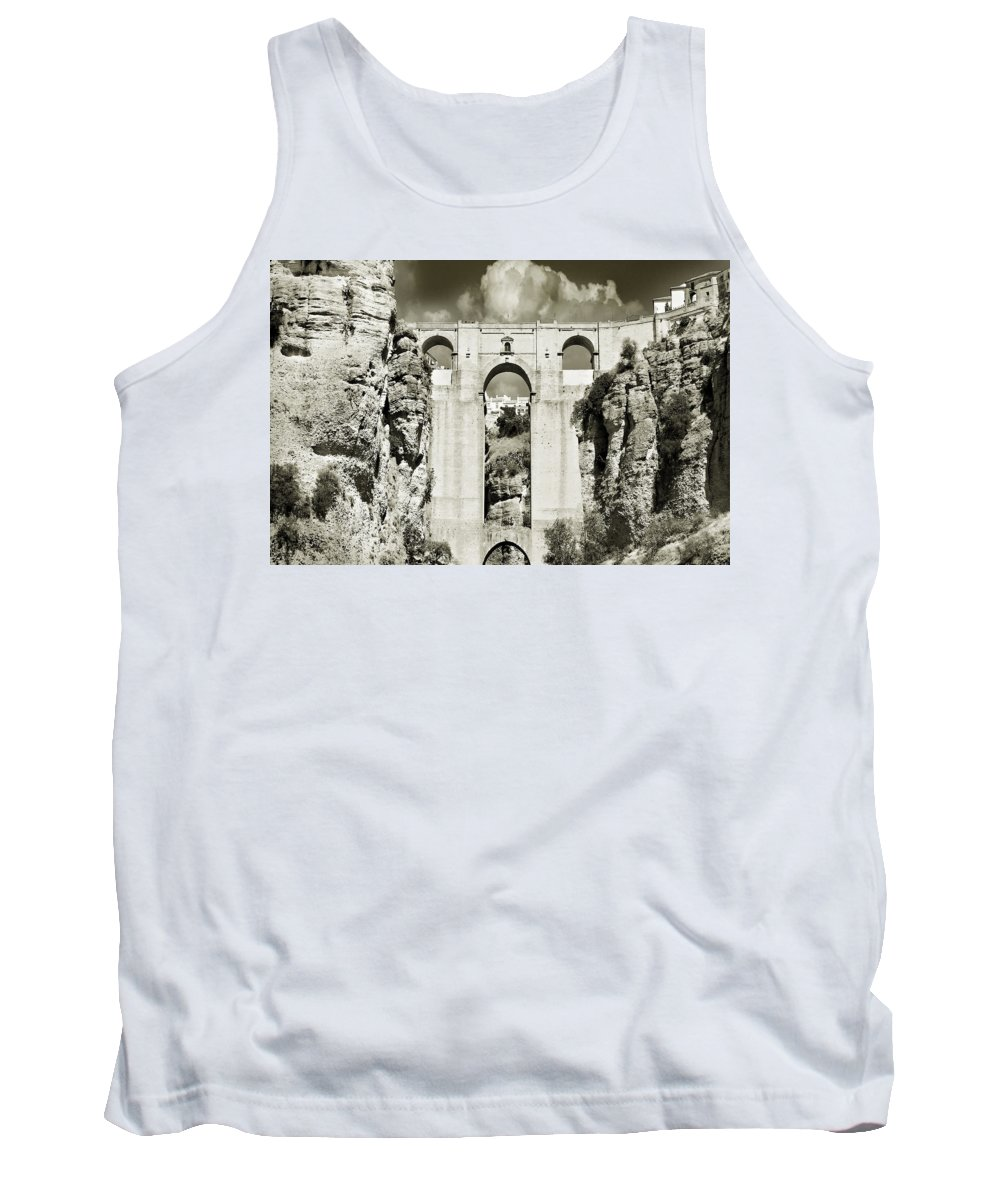 Bridge Tank Top featuring the photograph Puente Nuevo Tajo De Ronda Andalucia Spain Europe by Mal Bray