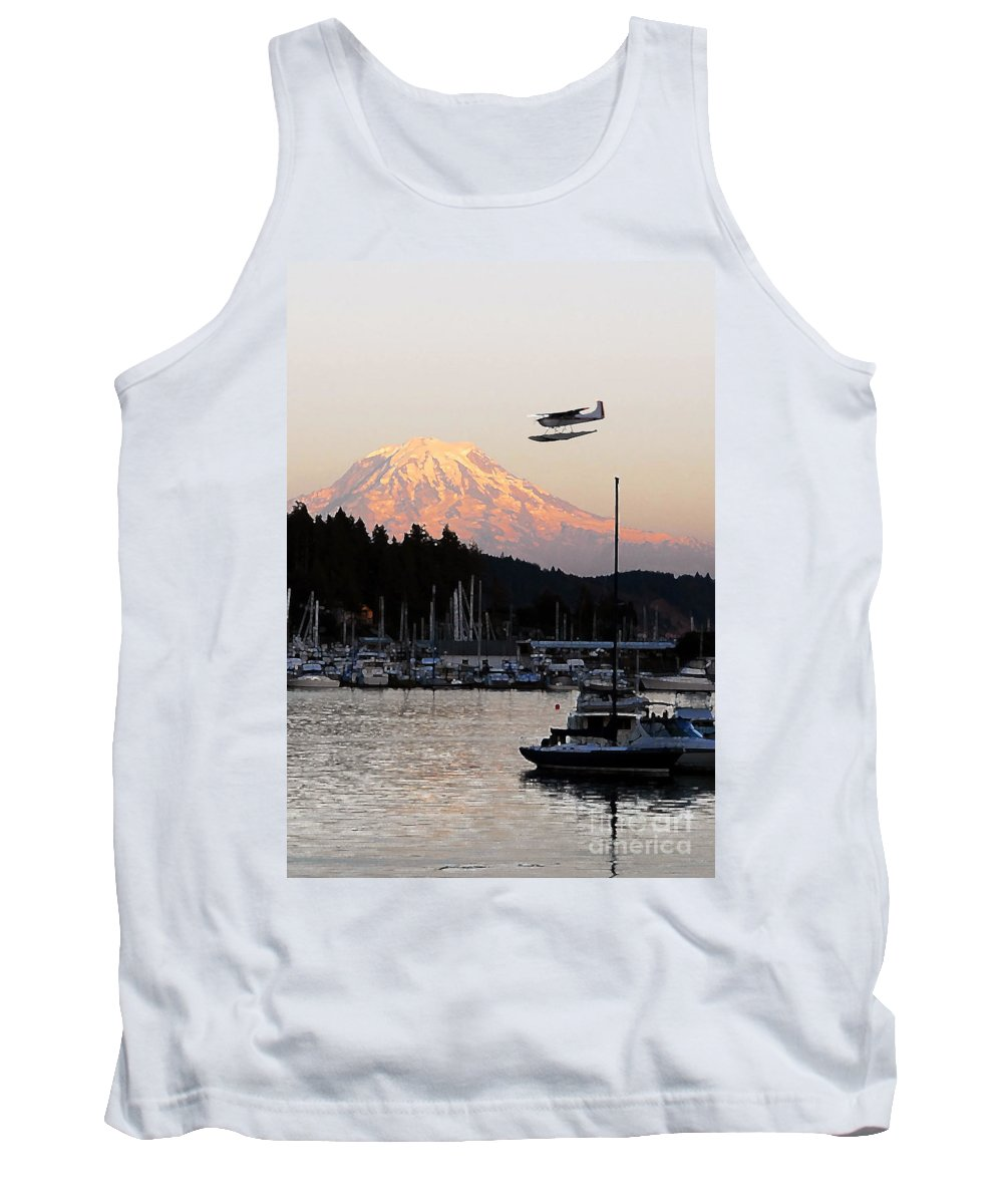 Puget Sound Tank Top featuring the photograph Puget Sound Landing by David Lee Thompson