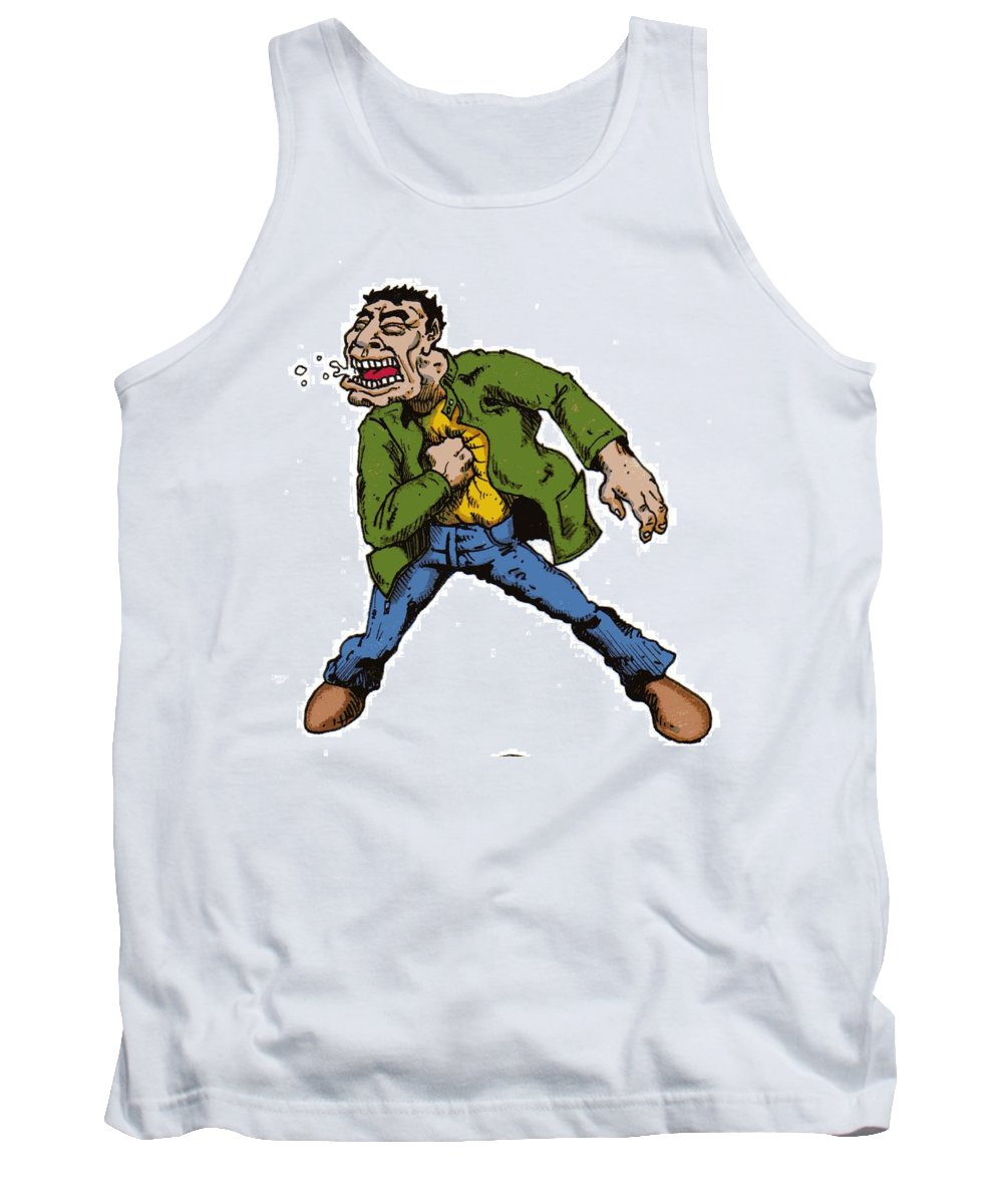 Illustration Tank Top featuring the drawing Punch by Tobey Anderson