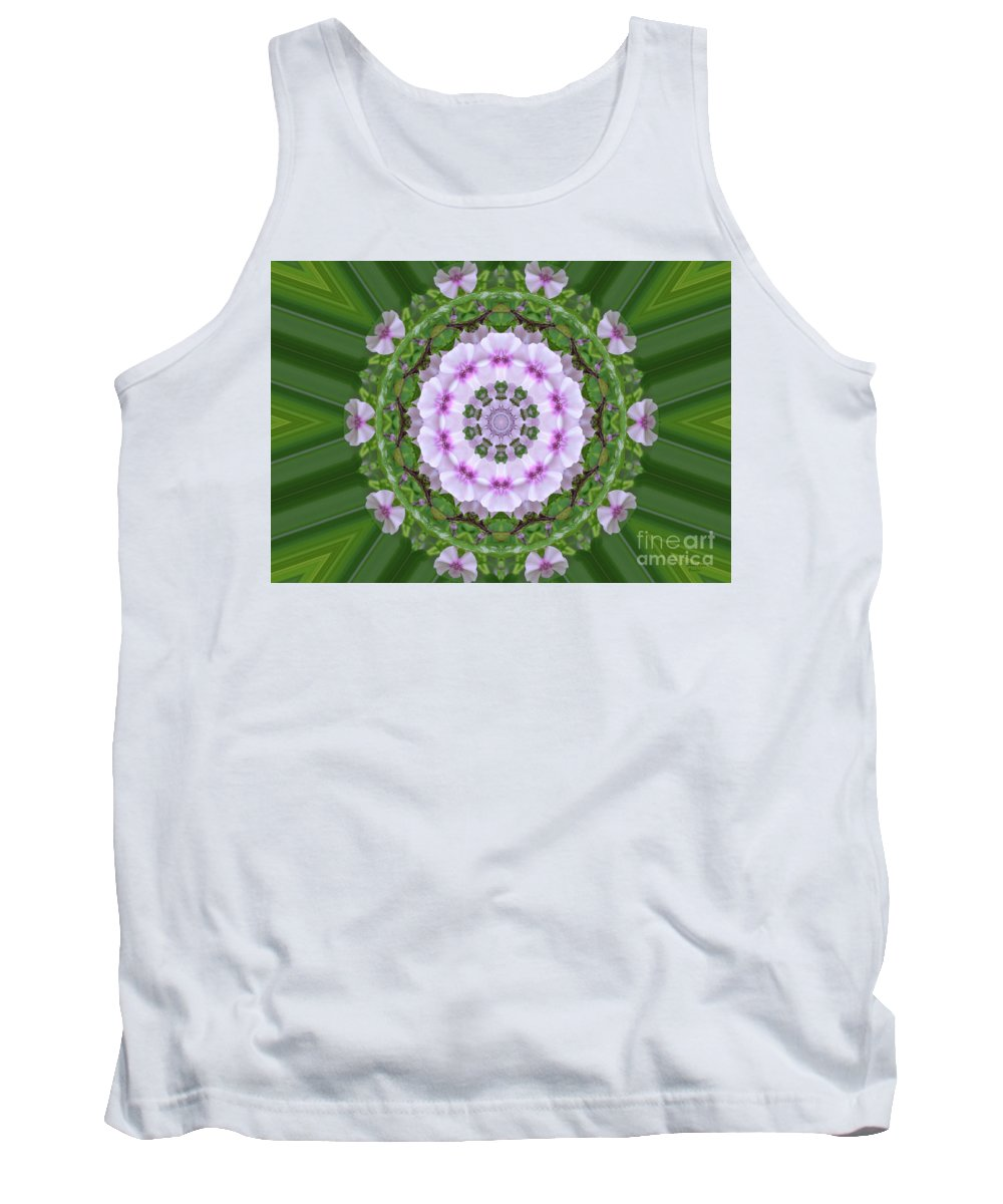 Purple Tank Top featuring the photograph Purple And White Flowers by Wanda-Lynn Searles