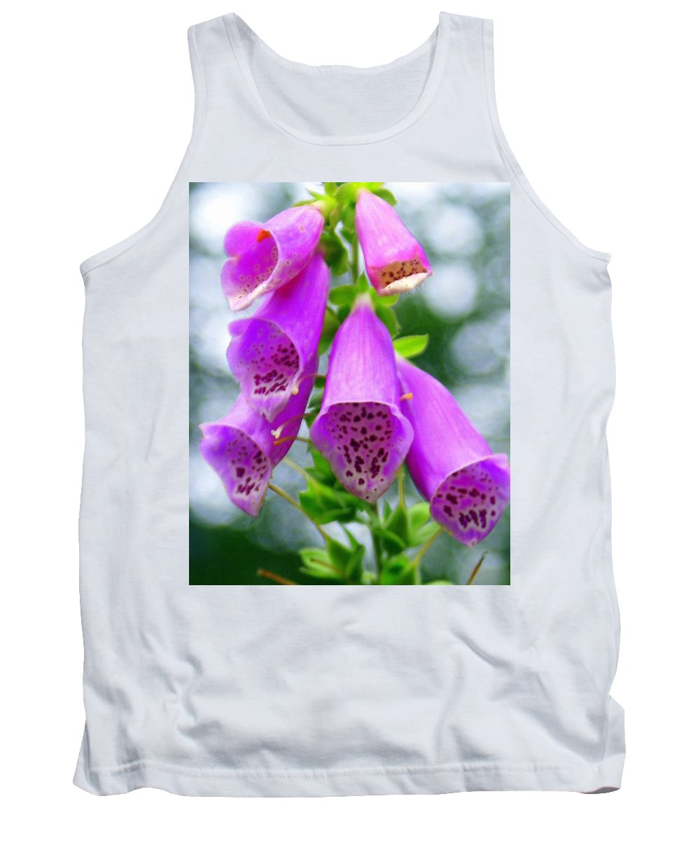Flowers Tank Top featuring the photograph Purple Bells by Marty Koch