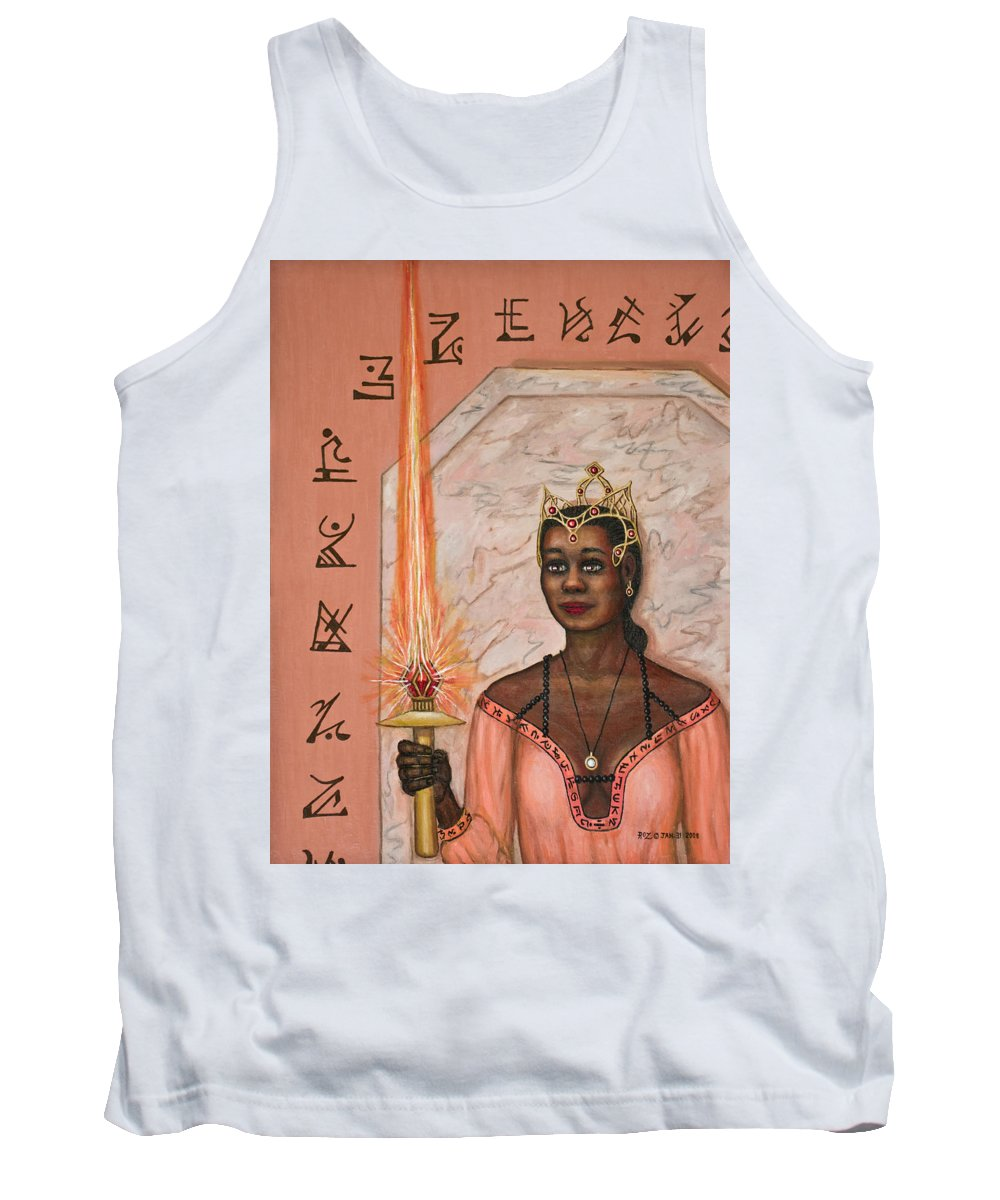 Fantasy Tank Top featuring the painting Queens New Toy by Roz Eve