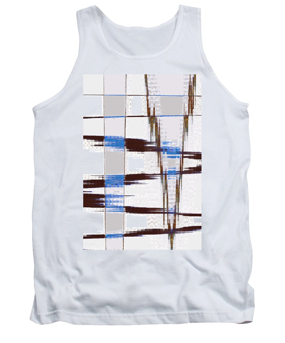 Abstract Tank Top featuring the digital art Quiet Abstract by Lenore Senior