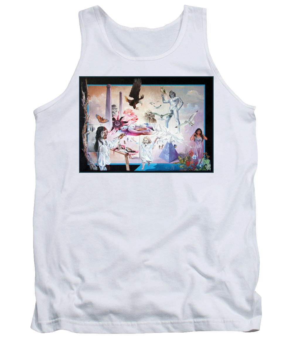 Surrealism Tank Top featuring the painting Quiet Afternoon At The Studio by Otto Rapp
