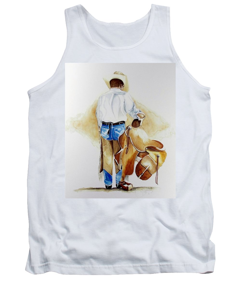 Boots Tank Top featuring the painting Quittin Time by Jimmy Smith