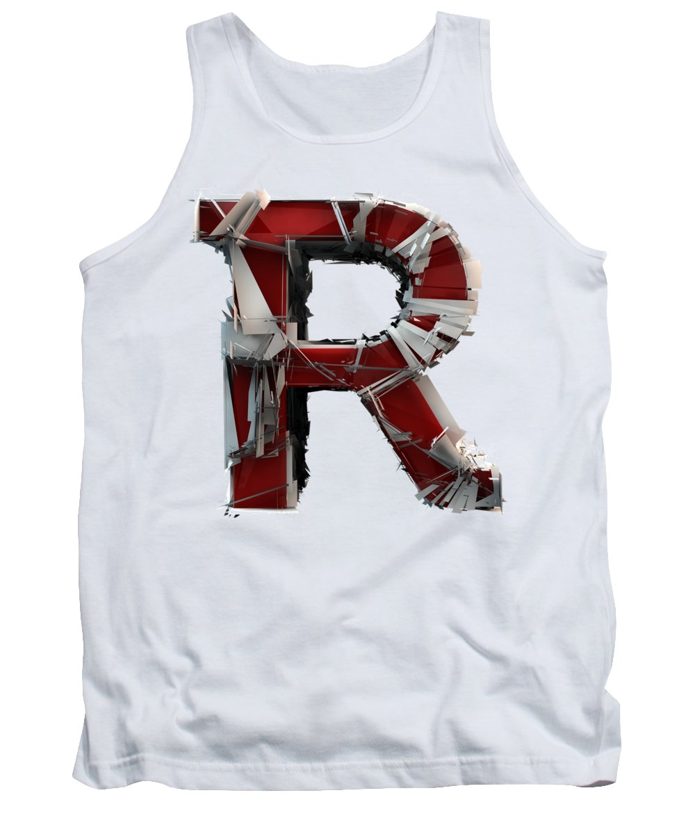Alphabet Tank Top featuring the photograph R Is Rock N Roll by Gary Keesler