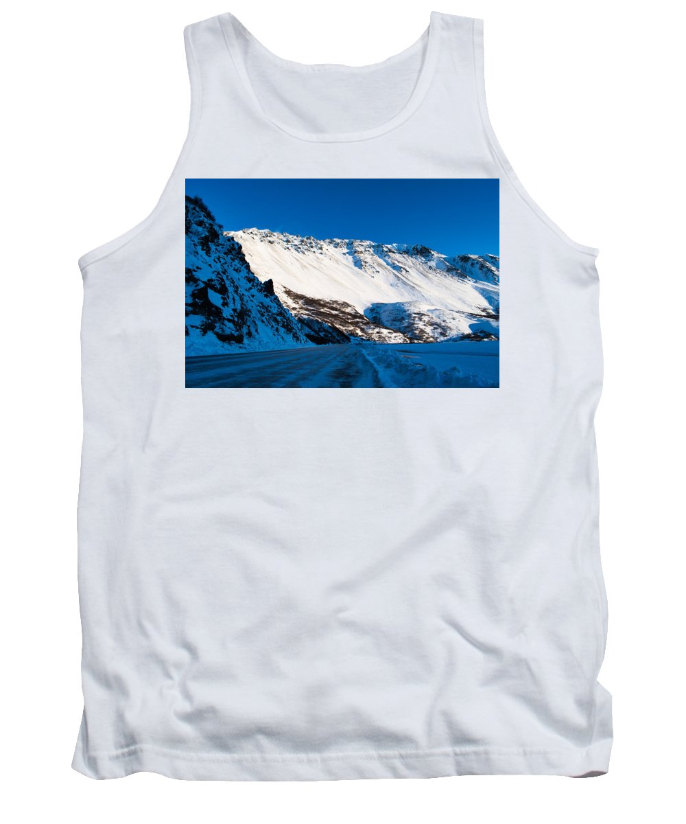 Tank Top featuring the photograph Rainbow Wall In Winter by Cathy Mahnke
