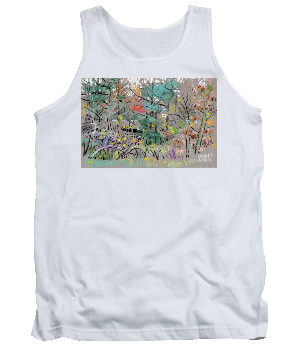 Plein Air Tank Top featuring the drawing Rainy Day In High Ridge by Donald Maier