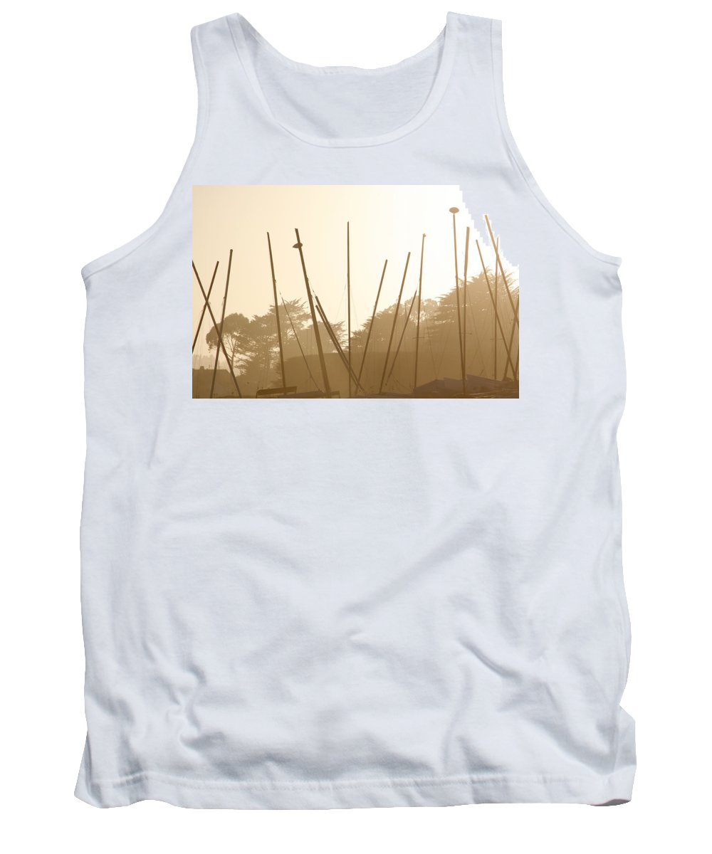 Boat Tank Top featuring the photograph Random Masts by Marilyn Hunt