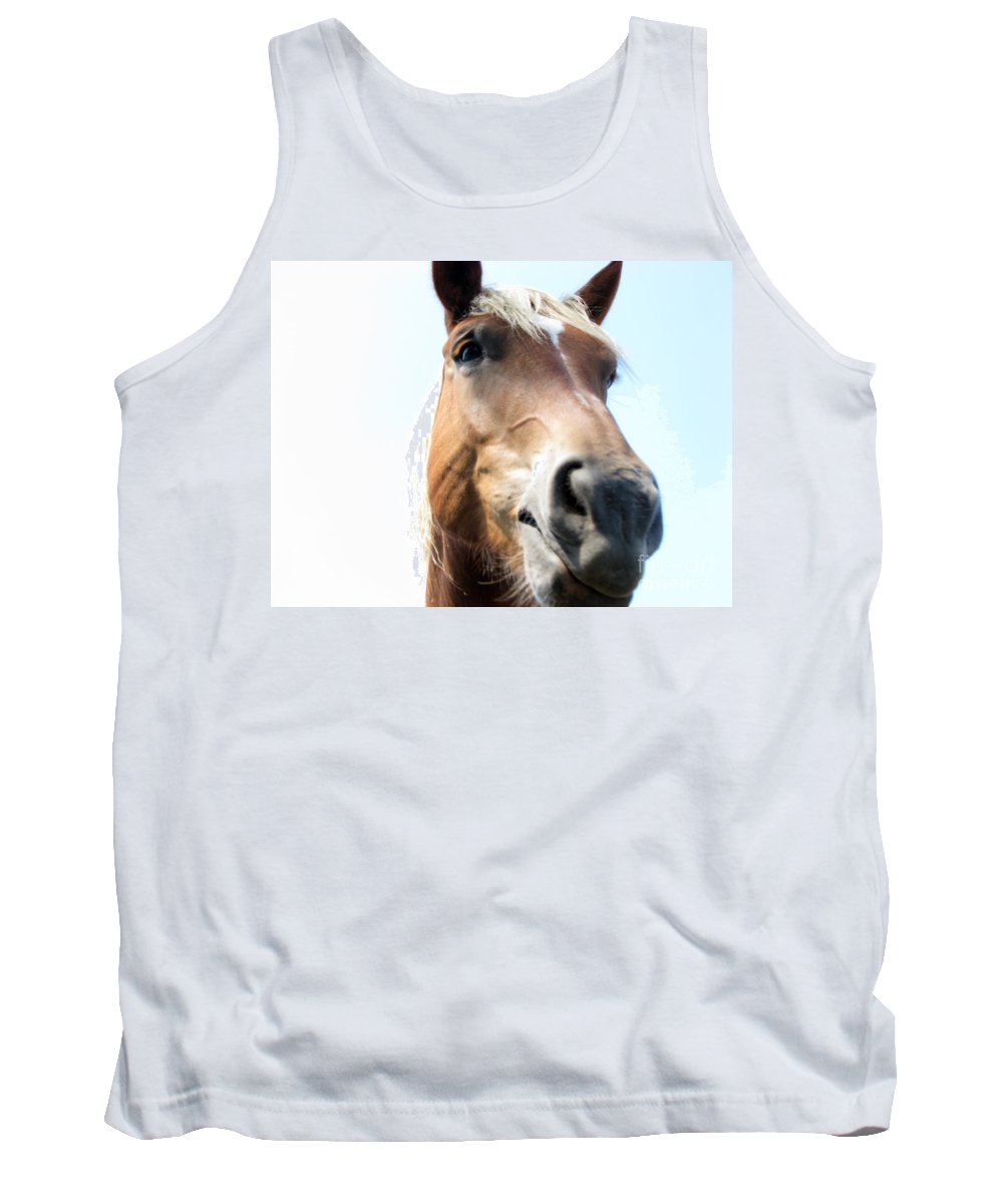 Horse Tank Top featuring the photograph Really by Amanda Barcon