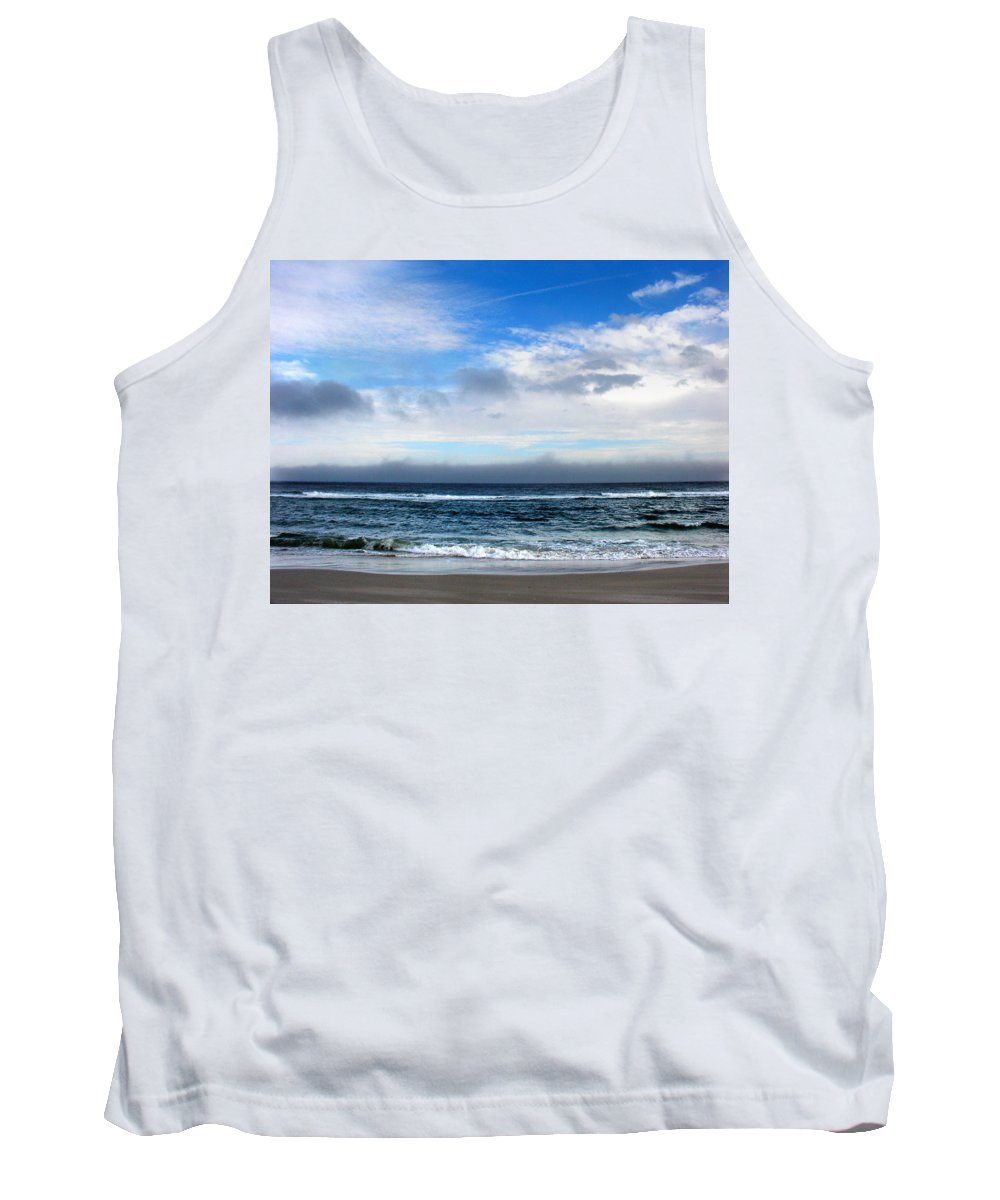 Seascape Tank Top featuring the photograph Receding Fog Seascape by Steve Karol