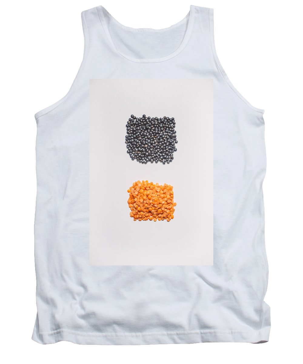 Still Life Photography Tank Top featuring the photograph Red And Black Lentils by Scott Norris