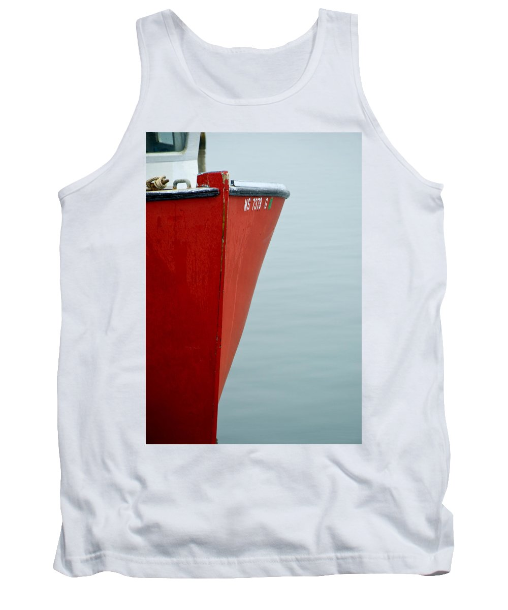 Red Tank Top featuring the photograph Red Boat by Charles Harden